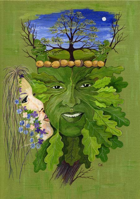 The Kiss of Spring Greenman